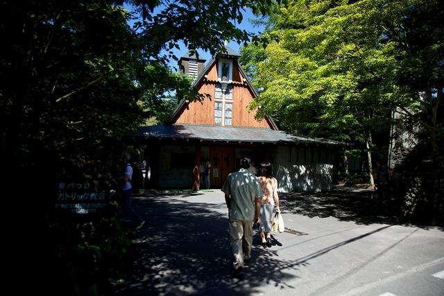 秋晴れの聖パウロ教会