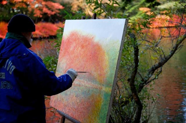 紅葉の雲場池3
