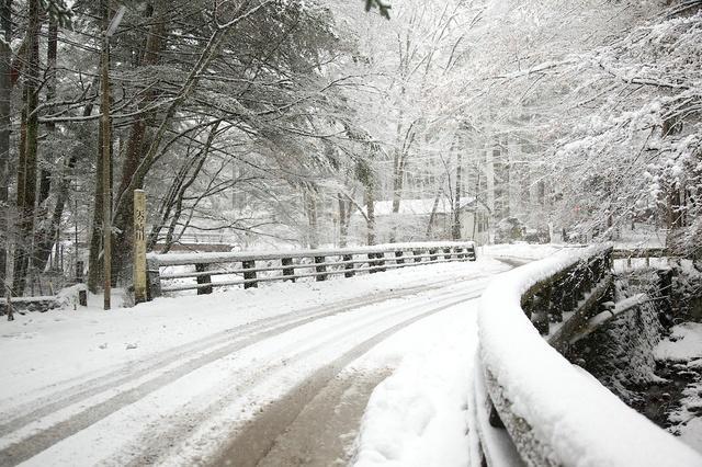 雪の二手橋