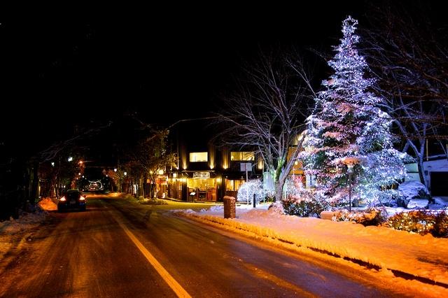 旧軽井沢ロータリーのクリスマス01
