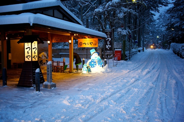 大雪の軽井沢
