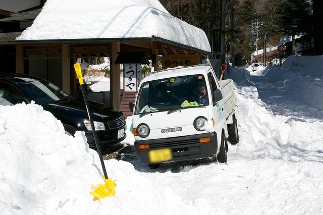 軽井沢、大雪から4日目01
