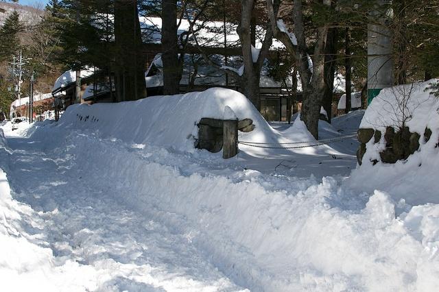 軽井沢、大雪から4日目02