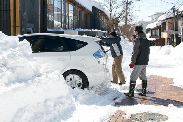軽井沢、大雪から4日目04