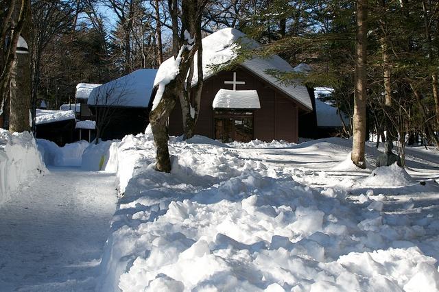 軽井沢、大雪から4日目09