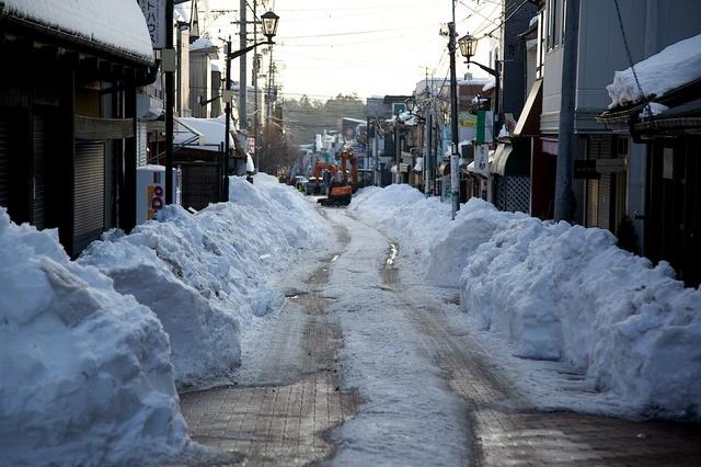 軽井沢の雪解け01