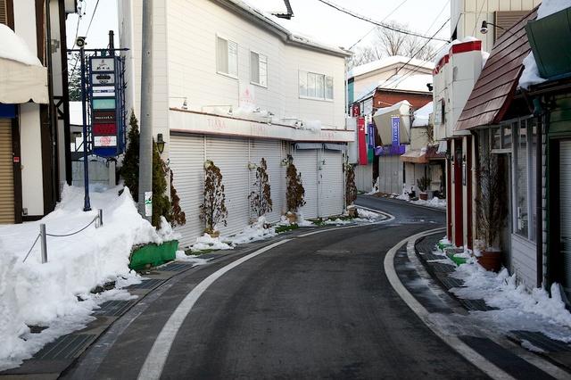 軽井沢の雪解け02