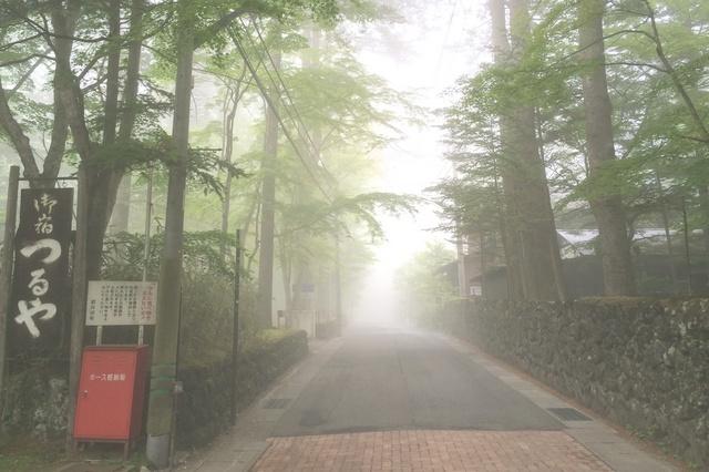 旧軽井沢らしい霧