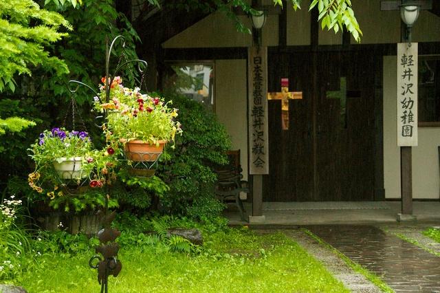 軽井沢幼稚園にかわいいお花