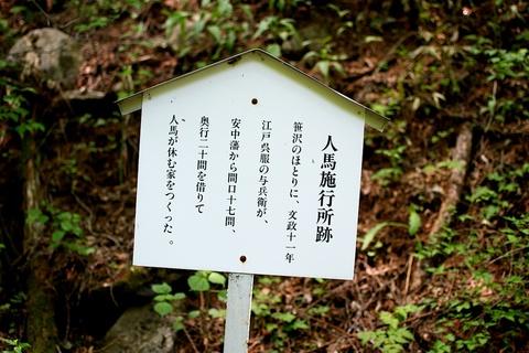 軽井沢宿から坂本宿まで中山道47