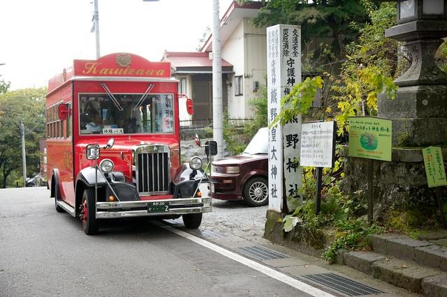 旧軽井沢赤いバス08