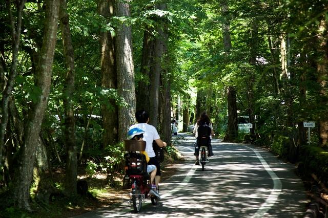 軽井沢散策水車の道02サイクリング