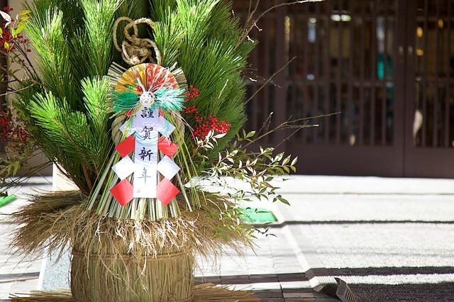 軽井沢つるや旅館の門松02